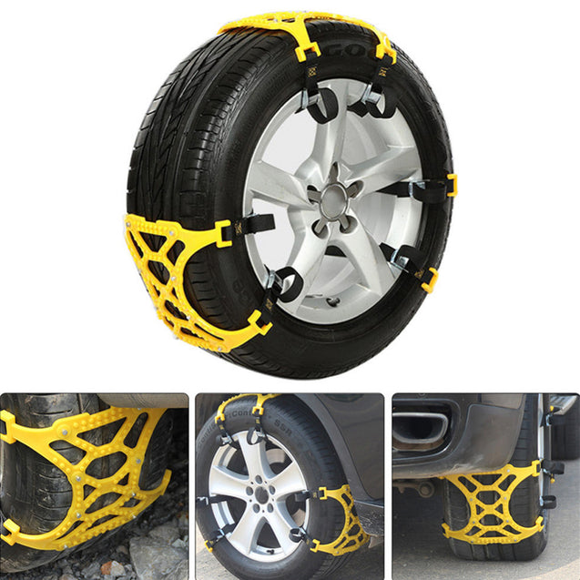 3Pcs Car Snow Chain Tire Tyre Anti-skid Belt Security Chain Tire Wheel Lug Chain