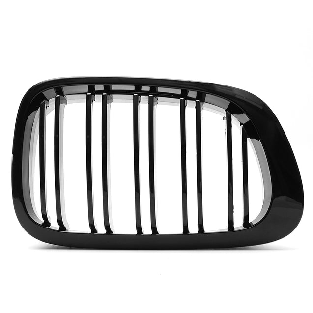 Car Front Right & Left Gloss Black Front Grilles For BMW E46 1998-2001