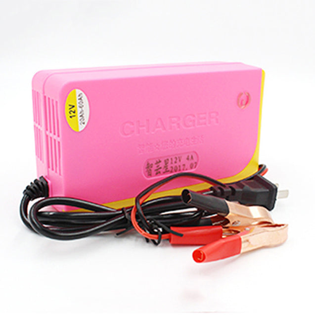 BIKIGHT 12V4A Portable Intelligent Motorcycle Electric Bike Lead Acid Battery Fast Charging Charger