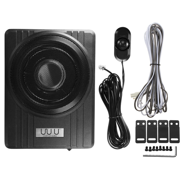 10 Inch 12V 600W Black Ultra-Thin Under-Seat Car Active Subwoofer Speaker