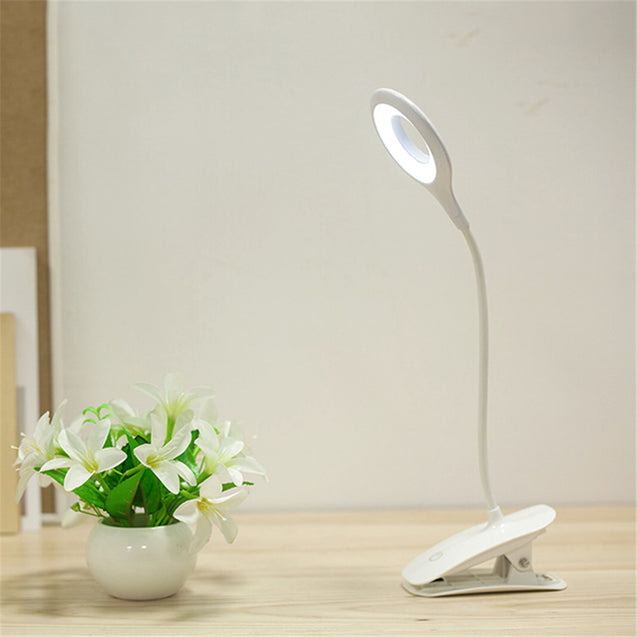 3 Modes Dimmable Desk Lamp USB Touch LED Clip Table Reading Book Light