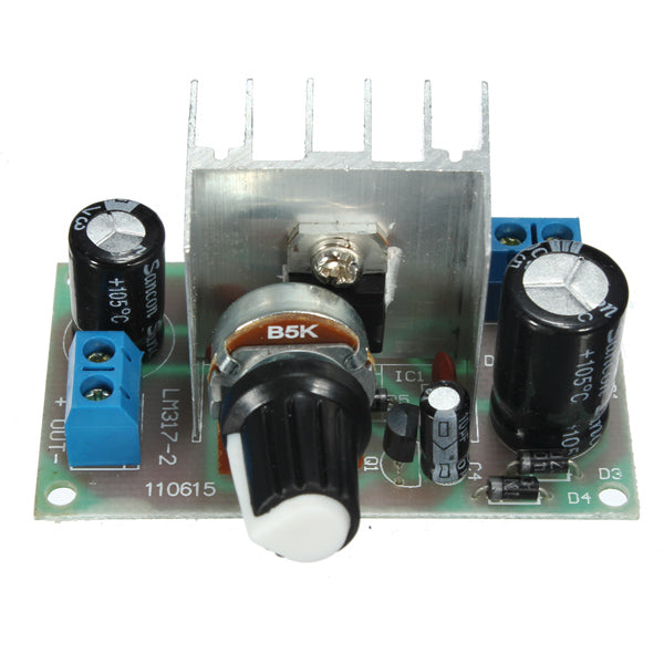 3Pcs DC/AC To DC LM317 Power Continuous Adjustable Voltage Regulator 1.25V-37V With Protection