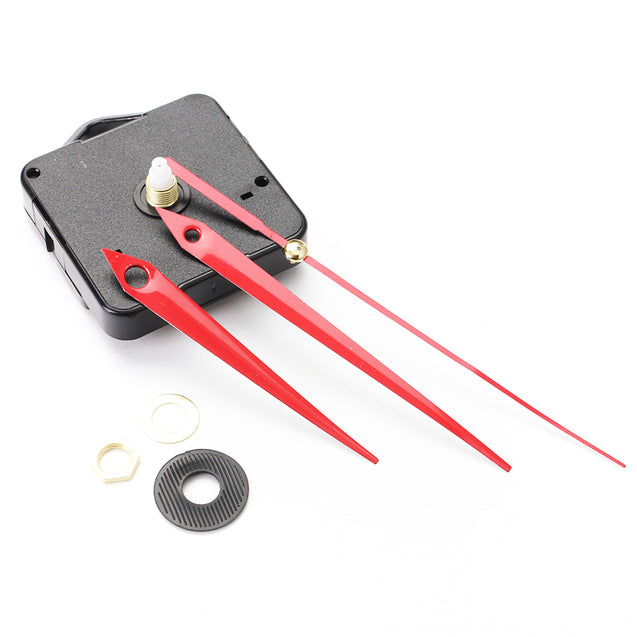 5Pcs DIY Red Triangle Hands Quartz Wall Clock Movement Mechanism
