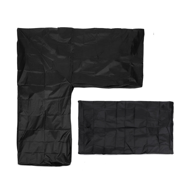2x2.7m L Shape Furniture Waterproof Cover Outdoor Camping Sofa Rattan Cube Garden Protector