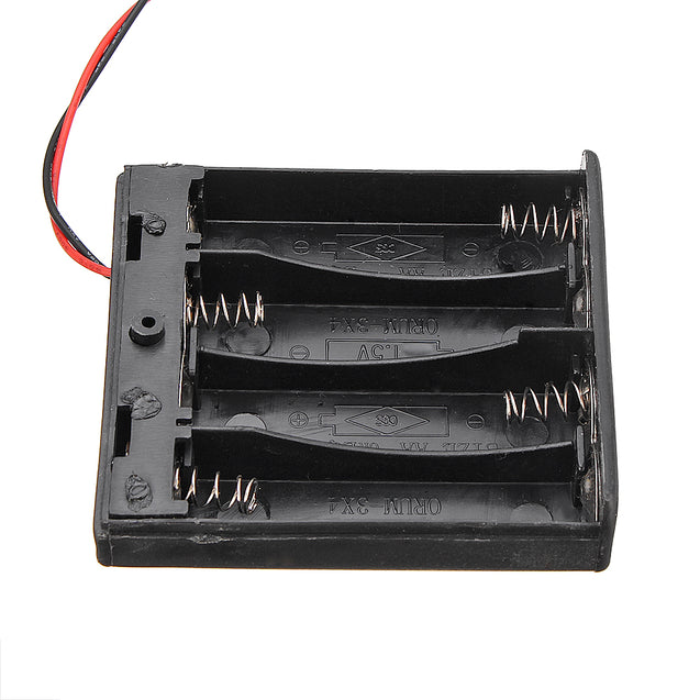 4 Slots AA Battery Box Battery Holder Board with Switch for 4xAA Batteries DIY kit Case