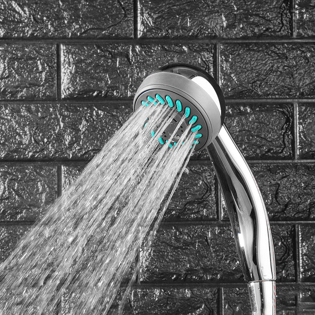 Adjustable Shower Head Three Function Rainfall Bathroom Wall Mount Showerhead ABS