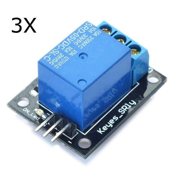 3Pcs 5V Relay 5-12V TTL Signal 1 Channel Module High Level Expansion Board For Arduino