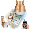 360 Panorama Bulb Camera HD 1080P Night Vision Two Way Talk Motion Detection Camera