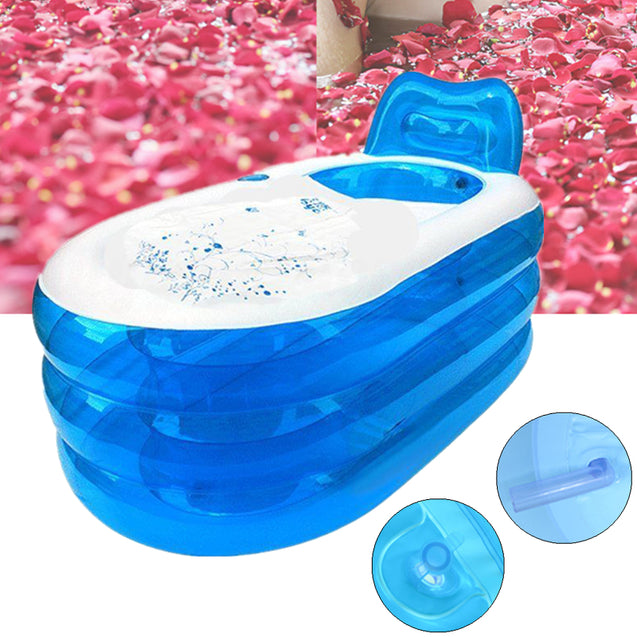 59x33.5x27.6inch Portable PVC Adult Bath Tub Folding Inflatable Travel Non-toxic Thick Bathtub