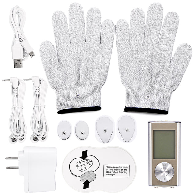 TENS Unit Professional Digital Palm Device Best Pain Relief Machine Devices Muscle Pain Massage Electric Massager Pulse Therapy