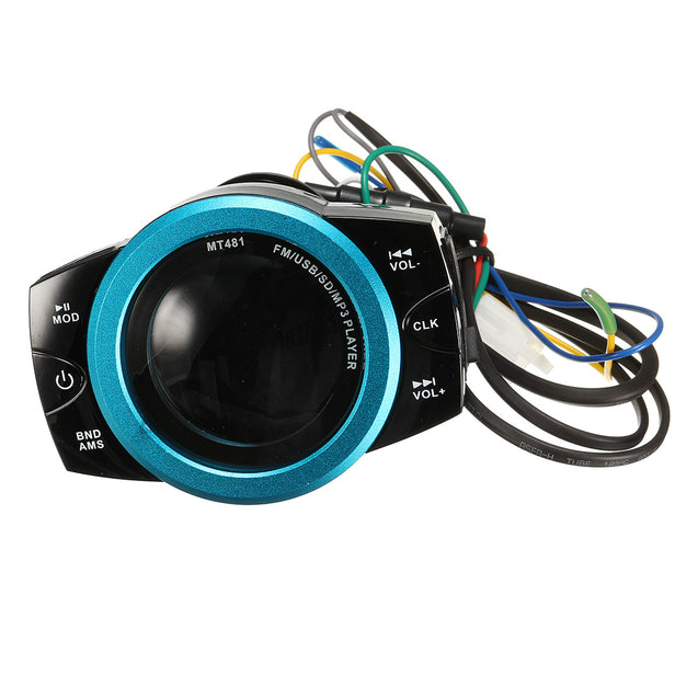 Motorcycle Anti Theft Audio System Stereo FM/TF/USB/SD/MP3 Waterproof