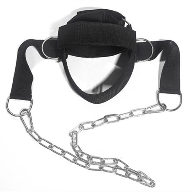 Adjustable Head Harness Neck Muscles Builder Strength Strap Weight Lifting Chain