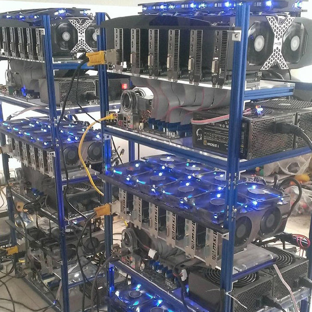 DIY Aluminum Frame Case For 6 GPU Mining Crypto-currency Mining Rigs