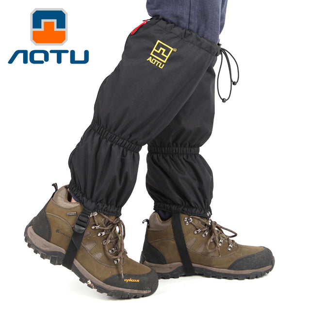 AOTU Waterproof Outdoor Hiking Walking Climbing Snow Gaiters Adult Travel kit Shoe Cover With Fleece