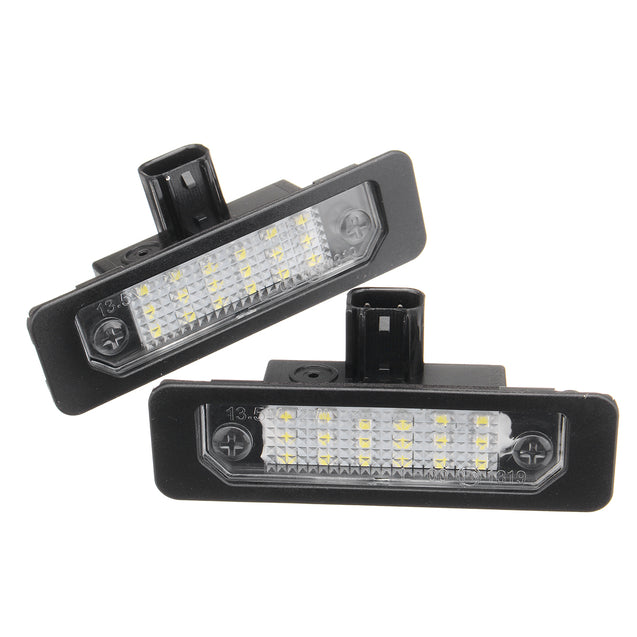 2PCS Car Rear Number License Plate Lights Lamp for Ford Mustang Taurus Flex for Lincoln 8T5Z-13550-B