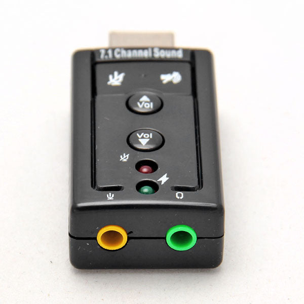 USB to 3D Audio Sound Card Adapter Virtual 7.1 Channel