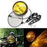 Motorcycle Grill Retro Vintage Bracket Mask Mount Headlight Cafe Racer Bobber