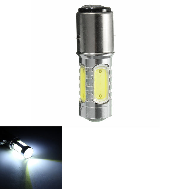 BA20D H16 4 COB LED White Bulb Light For Motor Bike Moped Scooter ATV Headlight