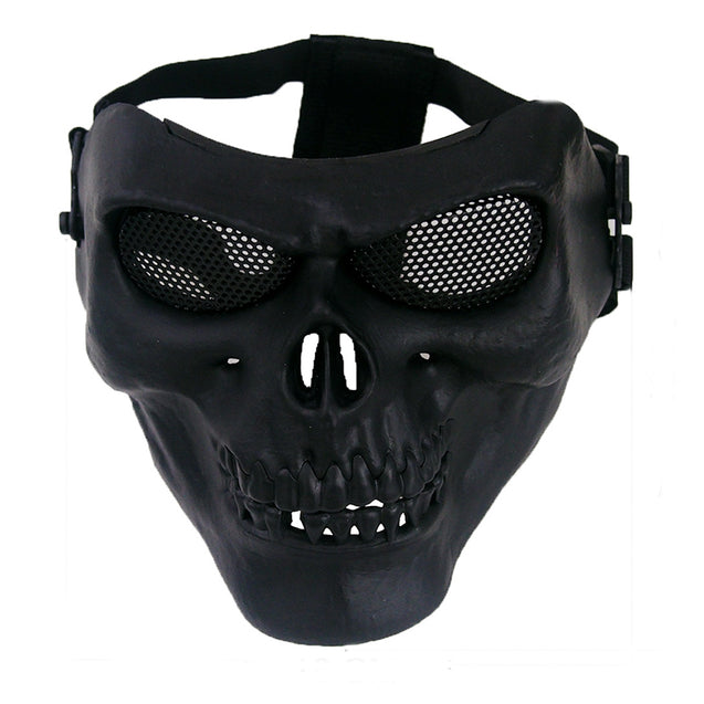 Outdooors CS Face Mask Masque Skull Style Airsoft War Game Guard Protection