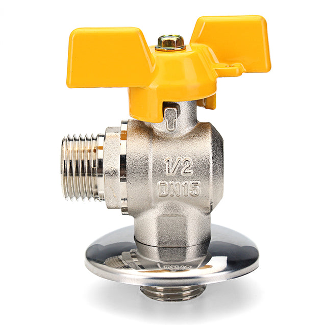 TMOK 1/2 PEX Tube Triangle Valves Brass Angle Flare Gas Ball Valve Blue Handle For Water Mainfold""