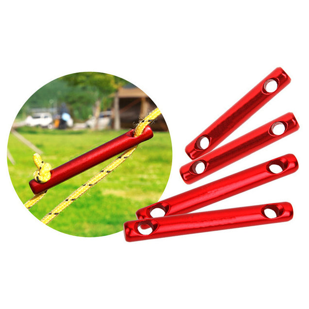 IPRee 6Pcs/set Aluminum Alloy Outdoor Camping Tent Wind Rope Stick Stopper Buckle Cord Accessories