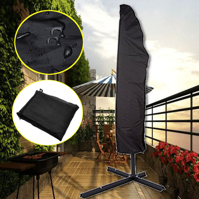 104x27inch Outdoor Garden Parasol Cover Waterproof Anti-UV Rain Umbrella Storage Bag