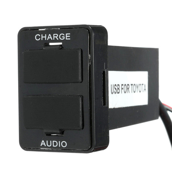 Dual USB Charger Audio Port Interface for Toyota 4Runner Camry Corolla