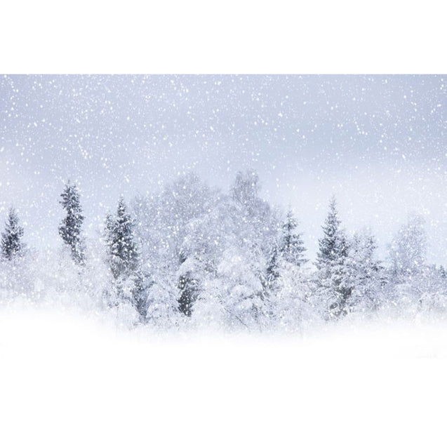 7x5FT Snow Covered Forest Photography Background Studio Backdrop 2.1x1.5m