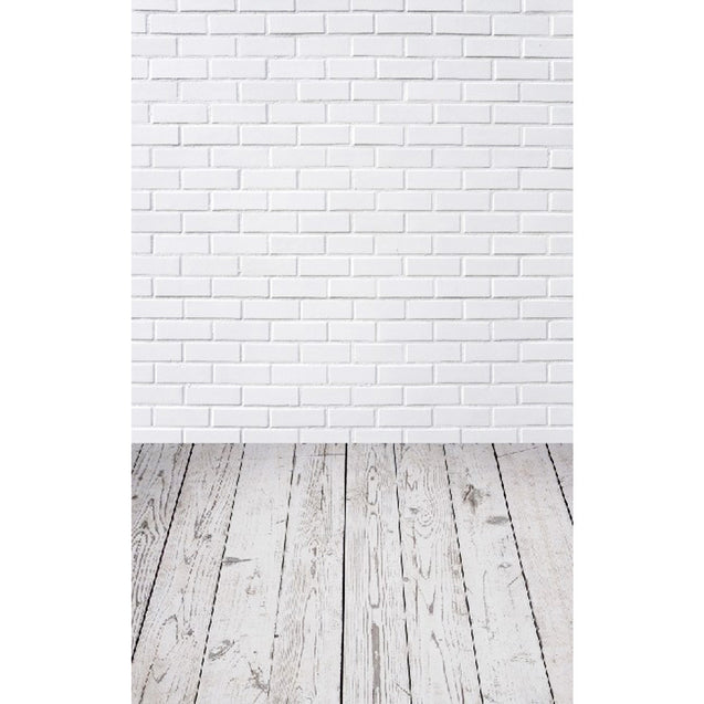 3x5FT White Brick Wall Floor Photography Backdrop Studio Prop Background