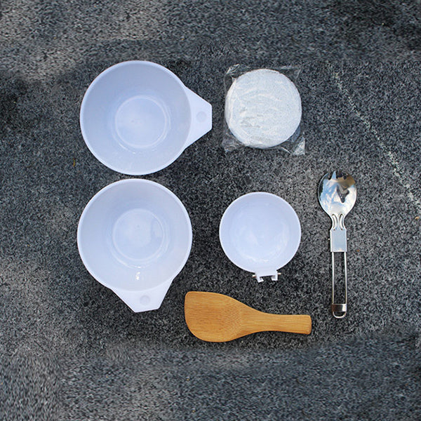 1-2 People Picnic Set Camping Cookware Tableware Stove Bracket Portable Outdoor Cooking Equipment