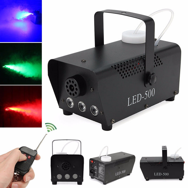 400W Wireless Control Mist Maker Mini Colorful Pump DJ Disco Smoke Machine
