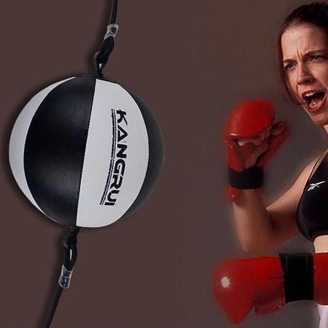 Leather Training Speed Boxing Ball Child Adult Workout Punching Bag