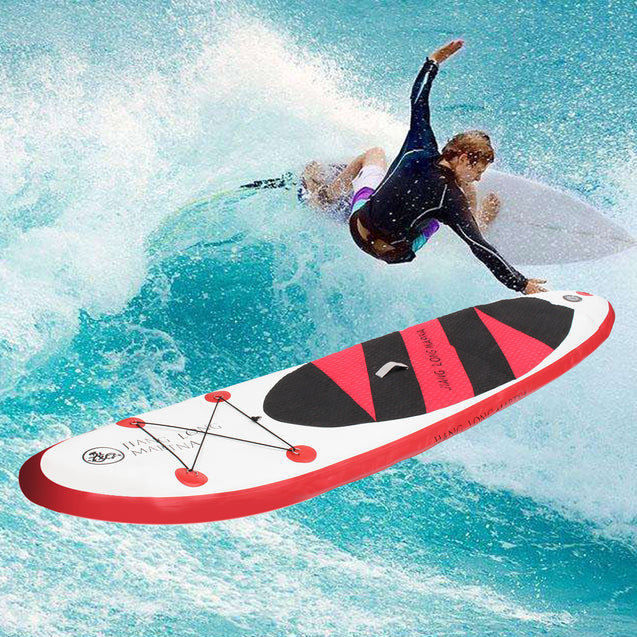 126x31.5x5.9 Inch Inflatable PVC Stand Up Paddle Board Exercise Training Surfboard Paddle Board