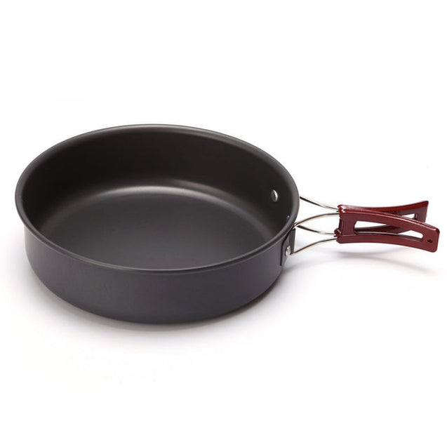 IPRee 1.7L Outdoor Camping Non-stick Pot Portable Picnic Skillet Frying Pan Tableware Cookware