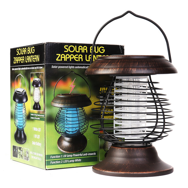 1.2V 0.5W Outdoor Camping Solar LED Mosquito Killer Lamp Dispeller Repeller Bug Insect Zapper Pest Trap Light