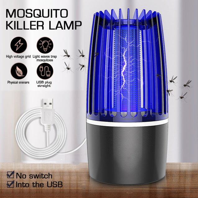 USB LED Electric Mosquito Zapper Killer Fly Insect Bug Trap Lamp Light Bulb 5W