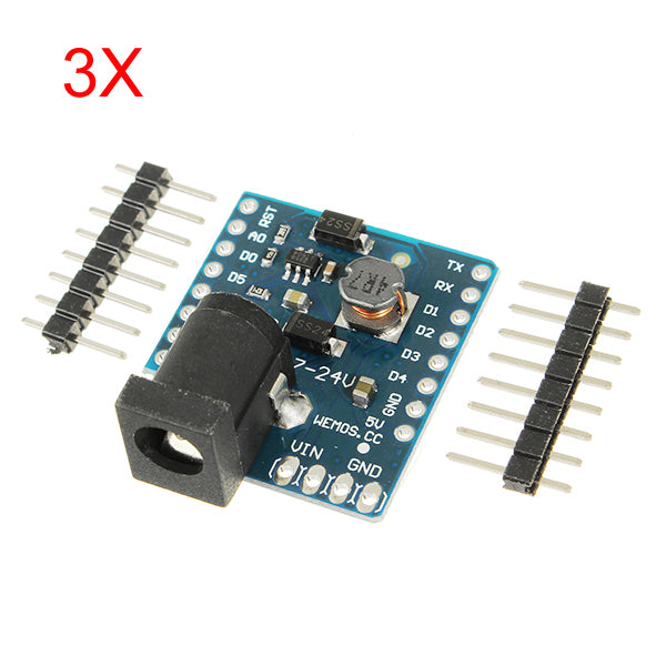 3Pcs WeMos DC Power Shield V1.0.0 For WeMos D1 Mini