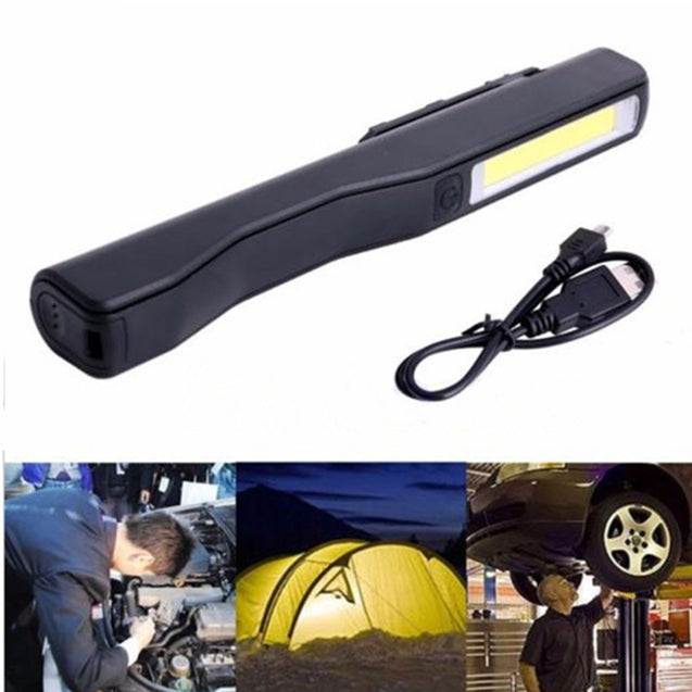 2 In 1 Camping LED COB Light USB Rechargeable Work Inspection Magnetic Lamp Torch