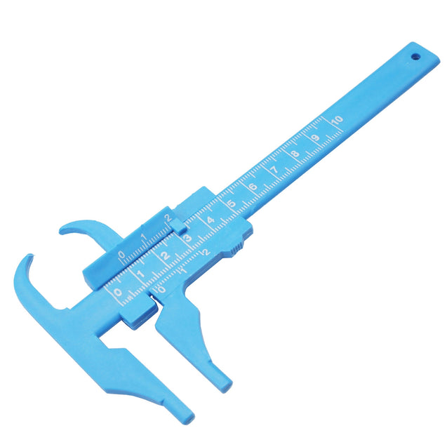 0-100MM 0.5MM Plastic Vernier Caliper Beauty Caliper Sliding Gauge Mini Measuring Ruler Measurement Tool