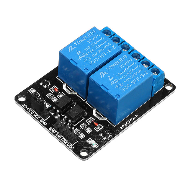 3pcs 2 Channel Relay Module 12V with Optical Coupler Protection Relay Extended Board