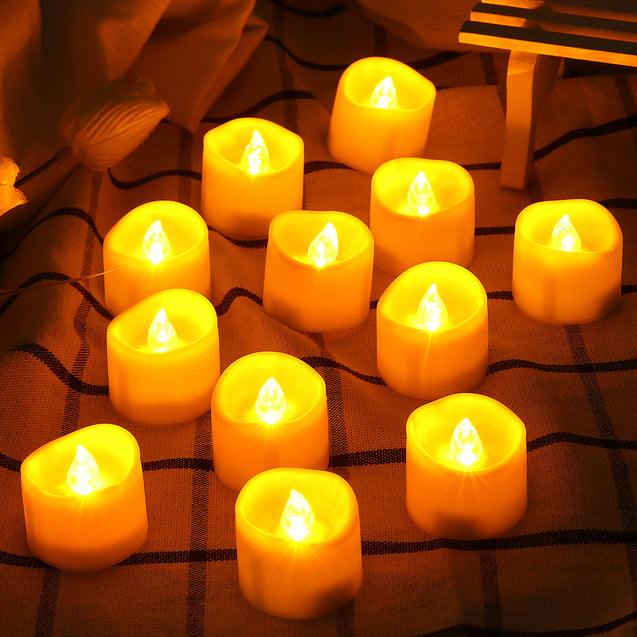 12X LED TeaLight Timing Function Electric Tea Light Candles Tea Light Battery