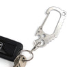 3CR Stainless Steel D-Type Keyring Chain Buckle Lock Opener Portable EDC Tools