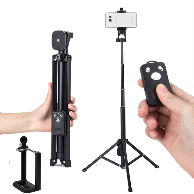 Yunteng 1688 3 In 1 Bluetooth Remote Shutter Portable Handle Selfie Stick Mini Table Tripod for IOS