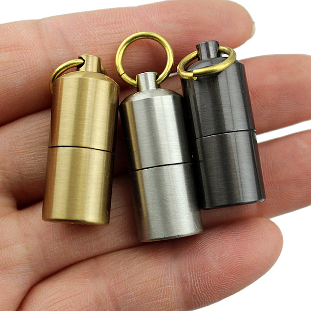 DOLPHIN HY629 Zinc Alloy Portable Kerosene Lighter Keychain Outdoor EDC Mini Oil Lighter