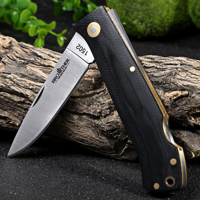 BROTHER 1502 188mm 440C Stainless Steel Knife Portable Folding Knife Outdoor Survival Knife
