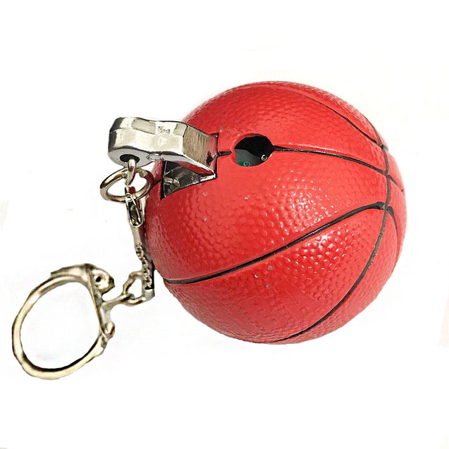 IPRee Outdoor EDC Basketball Shape Lighter Butane Gas Refillable Ignitor Starter Key Ring Keychain