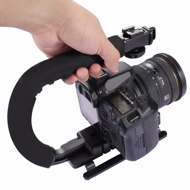 PULUZ PU3005 C-shaped Video Handle DV Bracket Steadicam Stabilizer for DSLR DV Camera