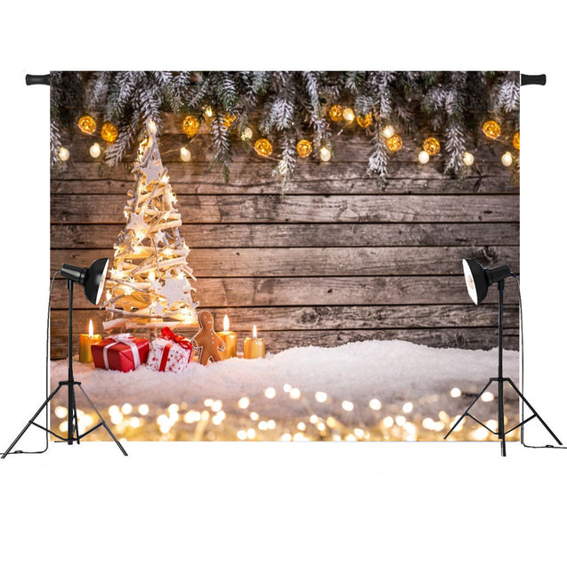 7x5FT Romantic Christmas Tree Light Decor Photography Backdrop Studio Prop Background