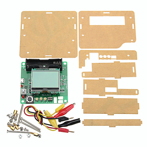 3.7V DIY Transistor Graphic Tester LCD Digital Multimeter Diode Inductor Capacitor ESR Meter + Shell