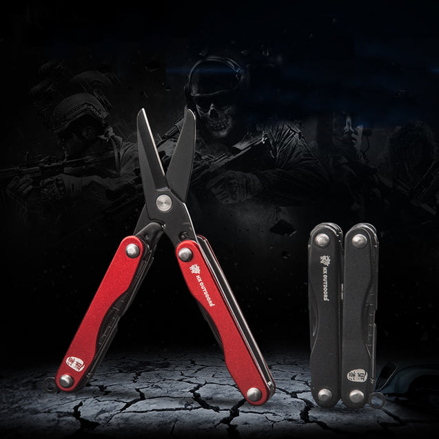 HX OUTDOORS GQ-01A 6 In 1 Mini EDC Scissors MultiFunction Combination Tool Survival Army Knives